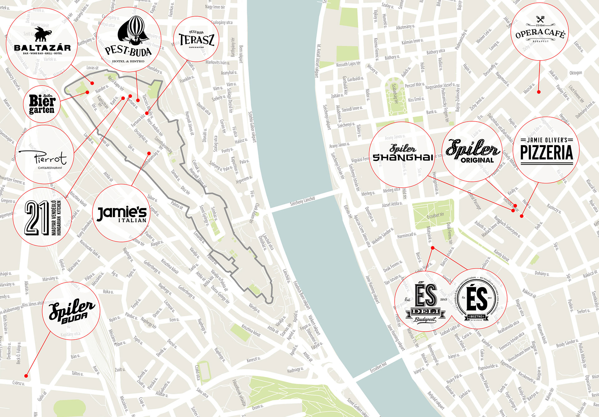 Budapest city centre map